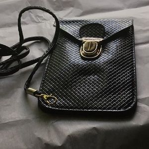 Phone Purse Never Used Black With Carry Strap